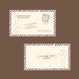 Repair business card vector template Stock Images