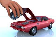 Repair of the car. Scene of the repair of the car Royalty Free Stock Images