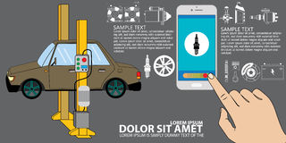 Repair car and auto part icon Vector Stock Image