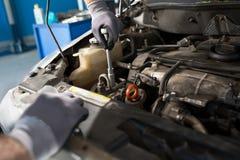 Repair car in automobile service Stock Image