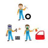 The repair of the car. The car service. Stock Photo