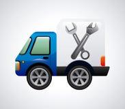 Repair car design Stock Image