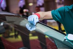 Repair Car Windshield Royalty Free Stock Photography