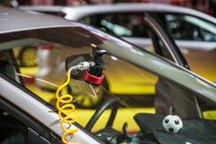 Repair car windshield Royalty Free Stock Photos