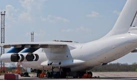 Plane repair Royalty Free Stock Photos