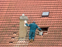 Repair chimney Royalty Free Stock Image