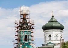 Repair of church Royalty Free Stock Images