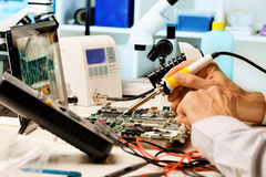 Repair  circuit boards Royalty Free Stock Photo