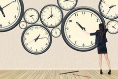 Repair the clock stock image