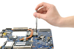 Repair of a computer Royalty Free Stock Photo