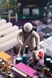 Repair of computer equipment. Of baclground Royalty Free Stock Photos