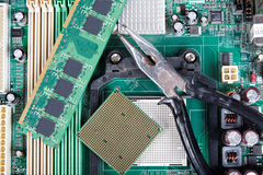 Repair of computer equipment Royalty Free Stock Images