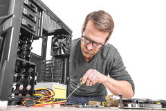 Repair of computer royalty free stock photo