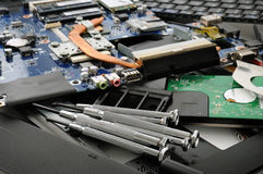 Repair of a computer Stock Images