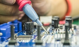 Repair of computers and electronic metering parameters Stock Photos