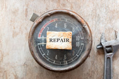 Repair concept. Steampunk background. Mechanical device stock photo