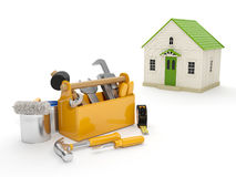 Repair and construction of the house Royalty Free Stock Images