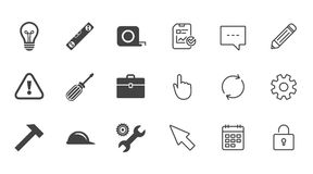 Repair, construction icons. Engineering signs. Royalty Free Stock Photos