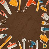 Repair and construction illustration with working Royalty Free Stock Photos