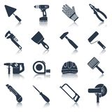 Repair construction tools black Stock Images