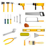 Repair and construction tools set. Repair and construction tools set on white background stock illustration