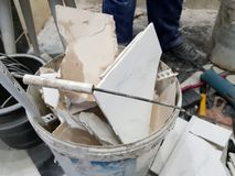 Repair construction and construction waste royalty free stock image