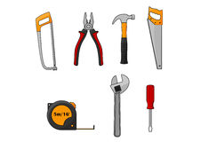 Repair and construction work tools  icons Royalty Free Stock Image