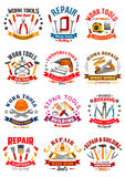 Repair construction work tools vector icons Royalty Free Stock Photo