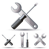 Repair 3d icon set. Royalty Free Stock Photo