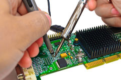 Repair and diagnostic electronics Stock Photography
