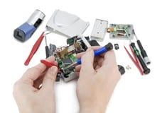 Repair of a digital video  camera Stock Images
