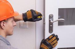 Repair door lock Royalty Free Stock Photo