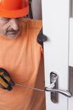 Repair door lock stock image