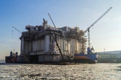 Repair of drilling rig Stock Images