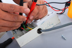 Repair of the electric socket Royalty Free Stock Photo