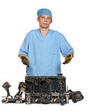 Repair of the engine Royalty Free Stock Photos