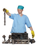 Repair of the engine Royalty Free Stock Image