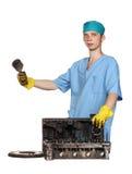 Repair of the engine Stock Photos