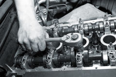 Repair of the engine Royalty Free Stock Images