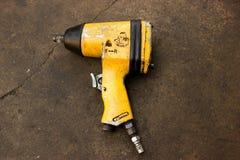 Repair equipment, vacuum, oil, tools. Stock Image