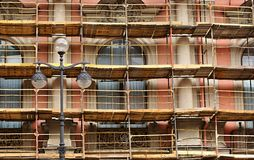 Repair of a facade of the building Royalty Free Stock Images