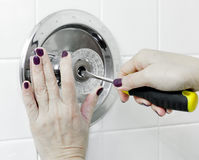 Repair Faucet Stock Photography