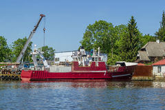 Repair of fishing boat Royalty Free Stock Photography