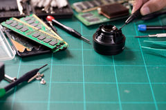 repair or fix camera computer Royalty Free Stock Photos