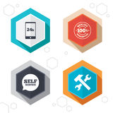 Repair fix tool icons. Customer service signs Stock Image