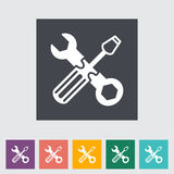 Repair flat icon. Vector illustration EPS Royalty Free Stock Image