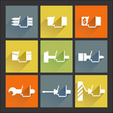 Repair. Flat icons set №2. Icons set. Long shadow. Repair Stock Image