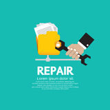 Repair Folder. Repair Folder Vector Illustration EPS10 Royalty Free Stock Photos