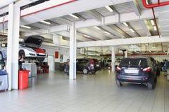 Repair garage Stock Image