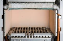 Repair gas burner boiler heating.  royalty free stock image